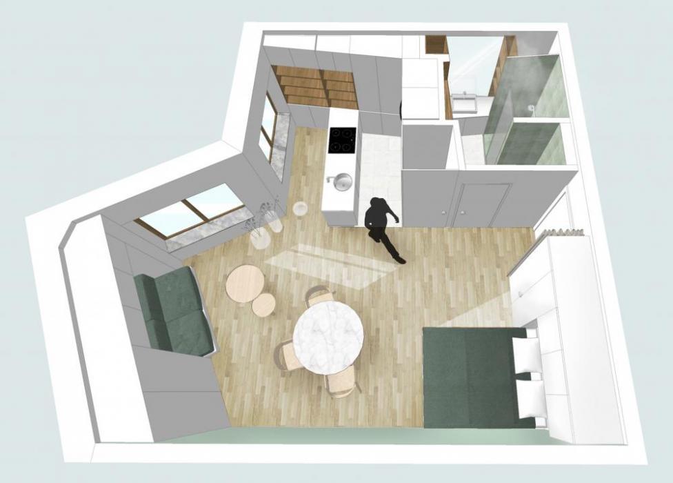 Beautiful expat studio apartment in Antwerp