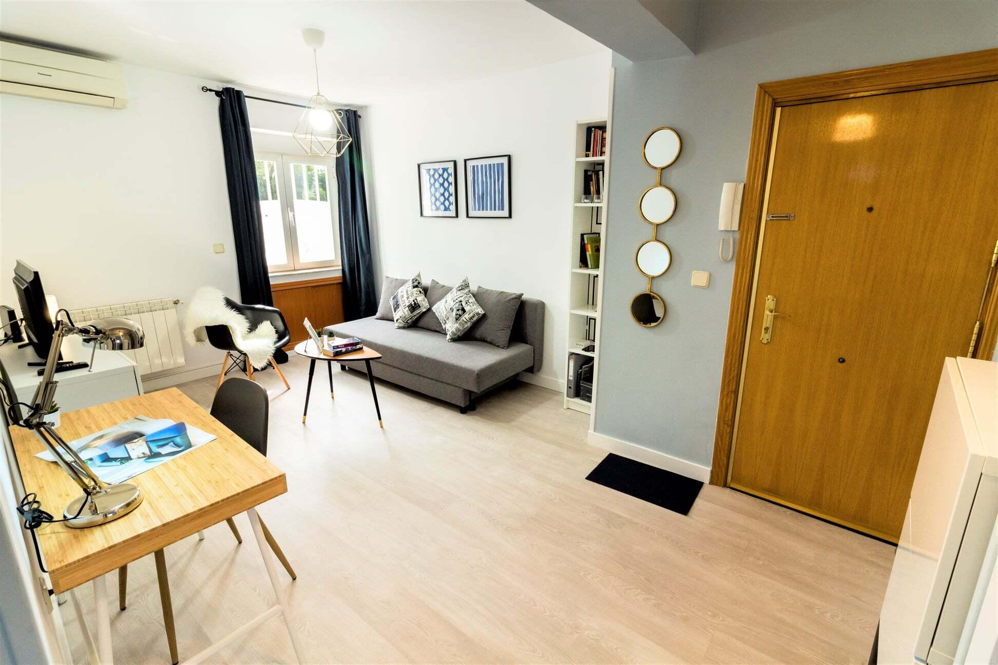 Ground floor expat apartment in Madrid