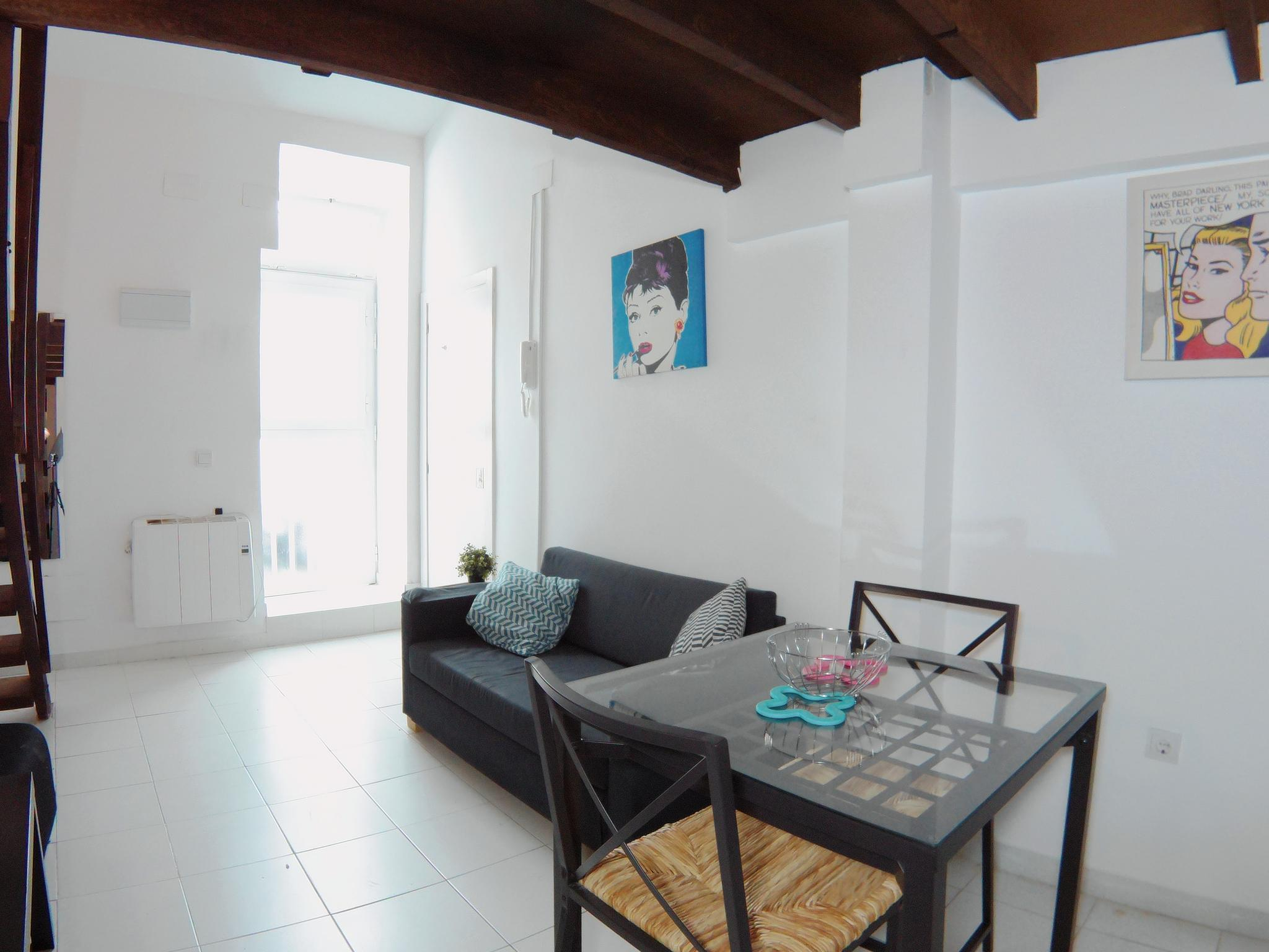 Moderno dúplex tipo loft en Madrid