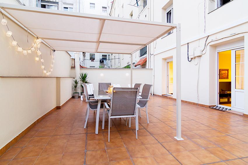 Recalde - Habitación con terraza en Bilbao