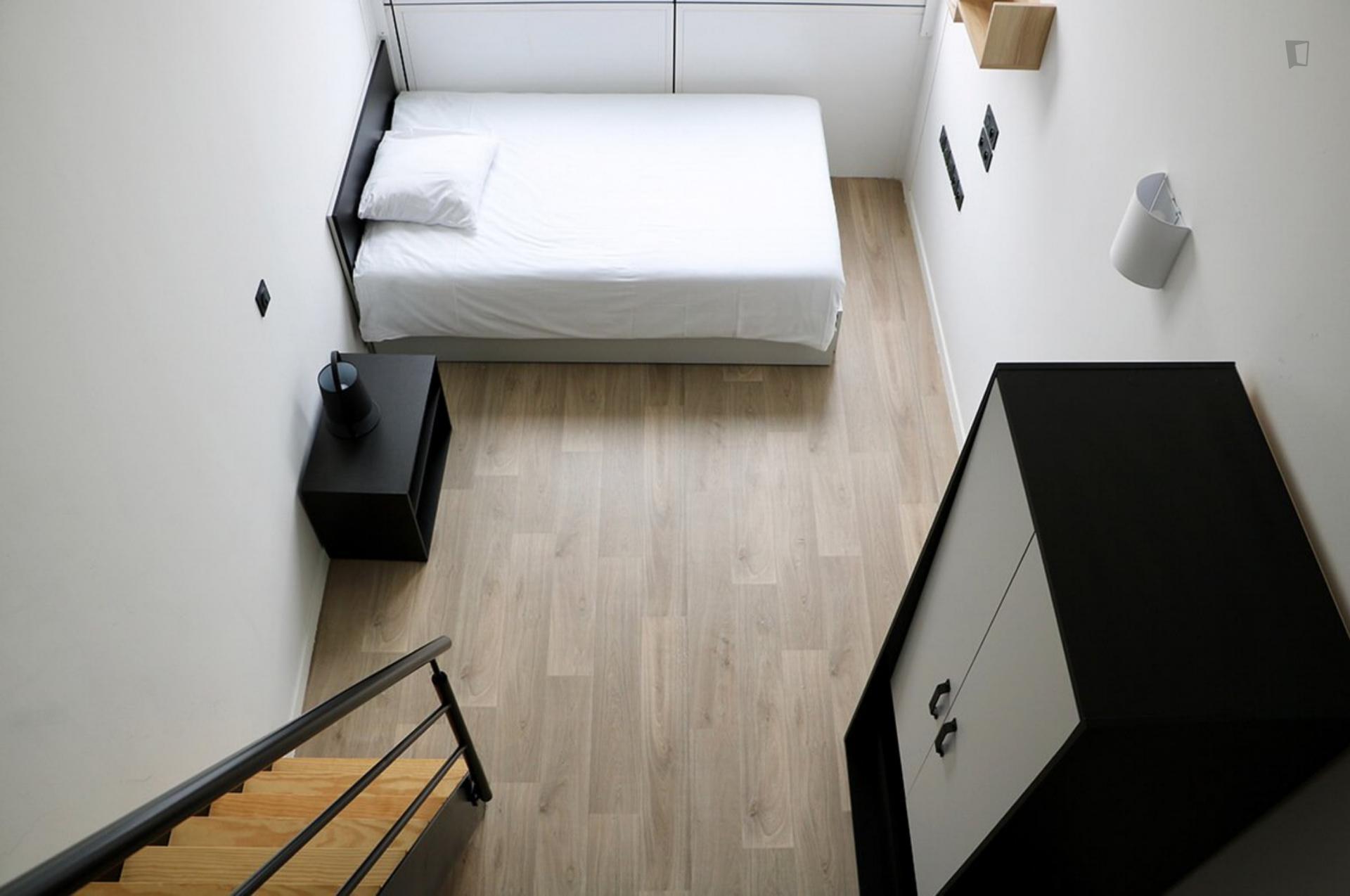 Bedroom in student residence duplex in France