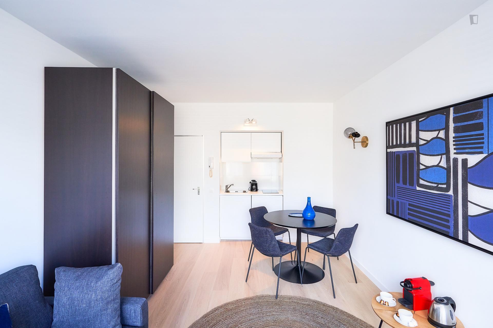 Blanche- Studio apartment for expats in Belgium